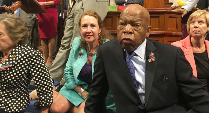 Congressman Lewis and sit-in